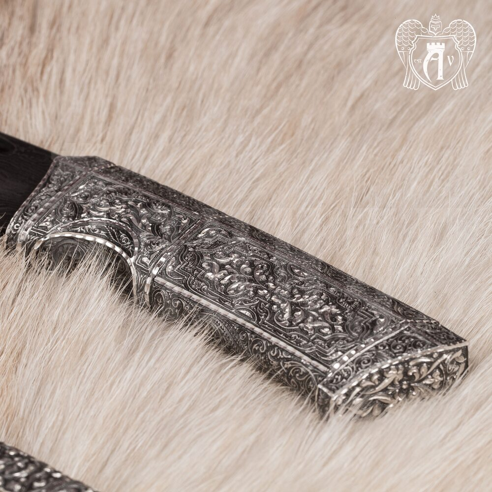 Авторский нож из Дамаска  «Ворон» Апанде, 4500044