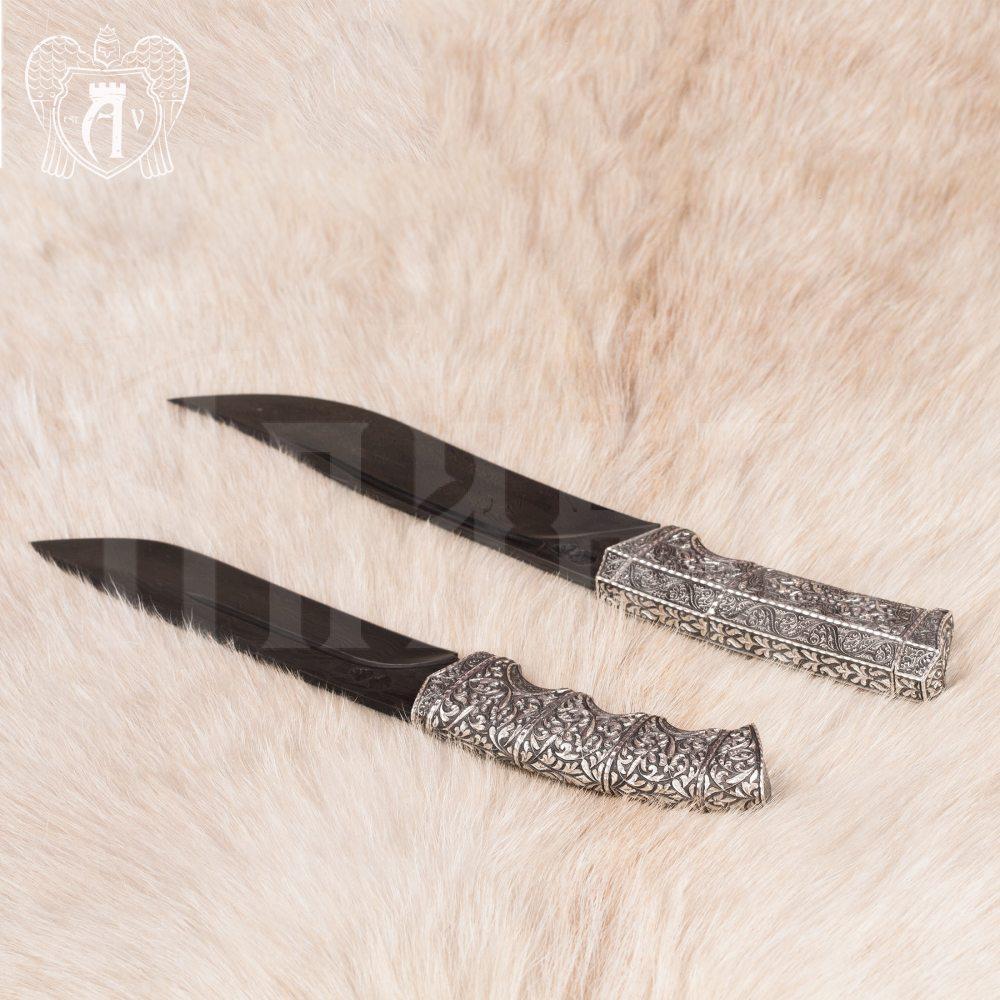 Авторский нож из серебра  «Волк» Апанде, 4500043