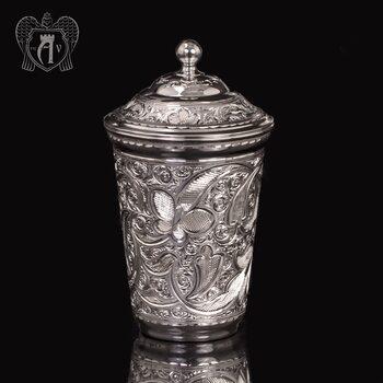 Серебряный стакан «Хрустальный звон» из чистого серебра 999 пробы