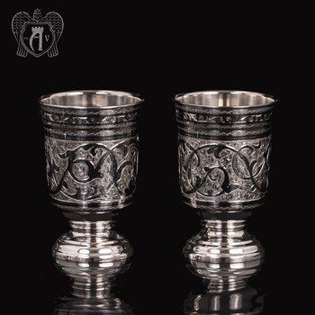 Набор  стаканов из серебра  «Торино»