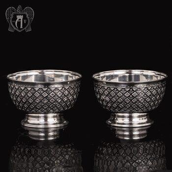 Пиала серебряная «Княжеская» набор 925 пробы
