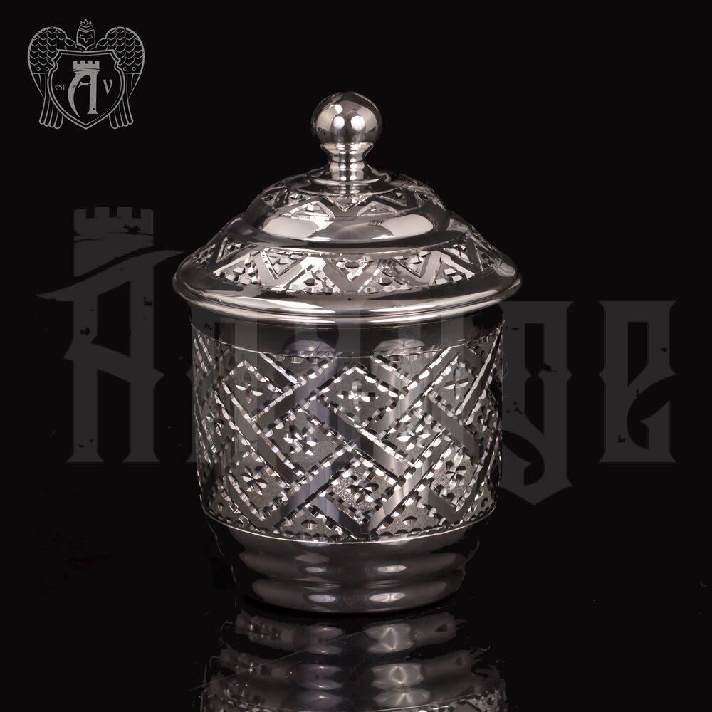 Маленький  стакан для меда  «Витязь» из чистого серебра 999 пробы Апанде, 71000447