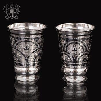 Набор  стаканов из серебра  «Верона»