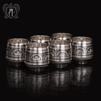 Набор  стаканов из серебра  «Верона 2»