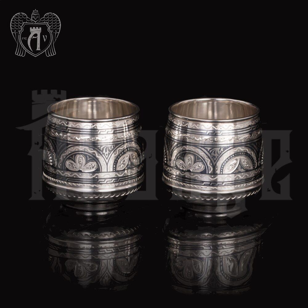 Набор  стаканов из серебра  «Верона 2» 2 шт Апанде, 71000451