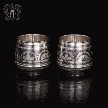 Набор  стаканов из серебра  «Верона 2» 2 шт