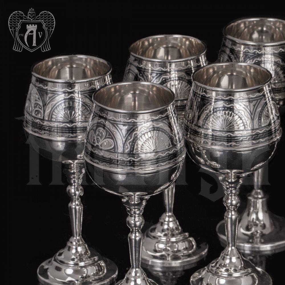 Бокал из серебра «Верона 2»  Апанде, 3800403-25