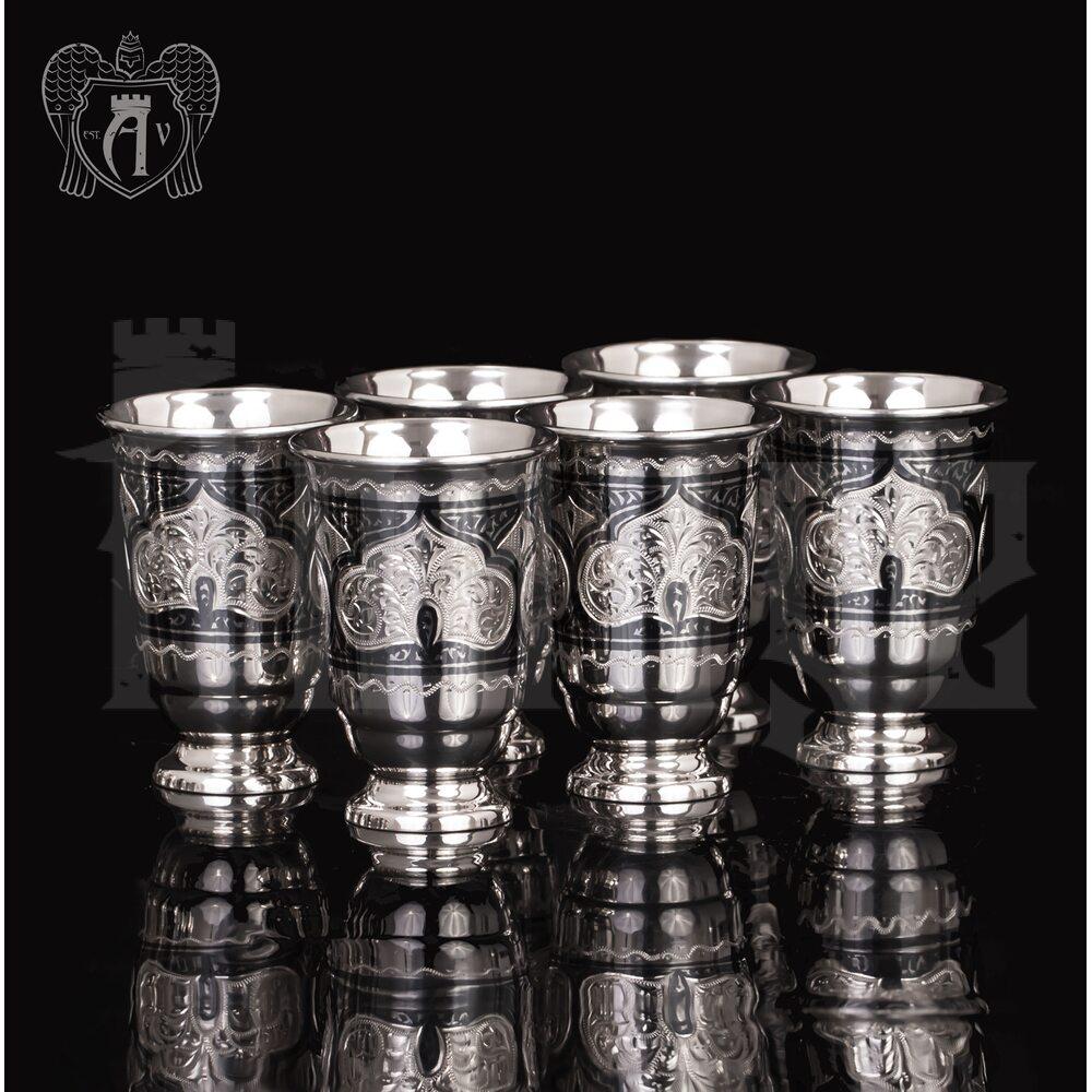Набор серебряных стопок «Аллегро»  6 шт Апанде, 111003140