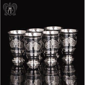 Набор серебряных стопок «Аллегро»  6 шт