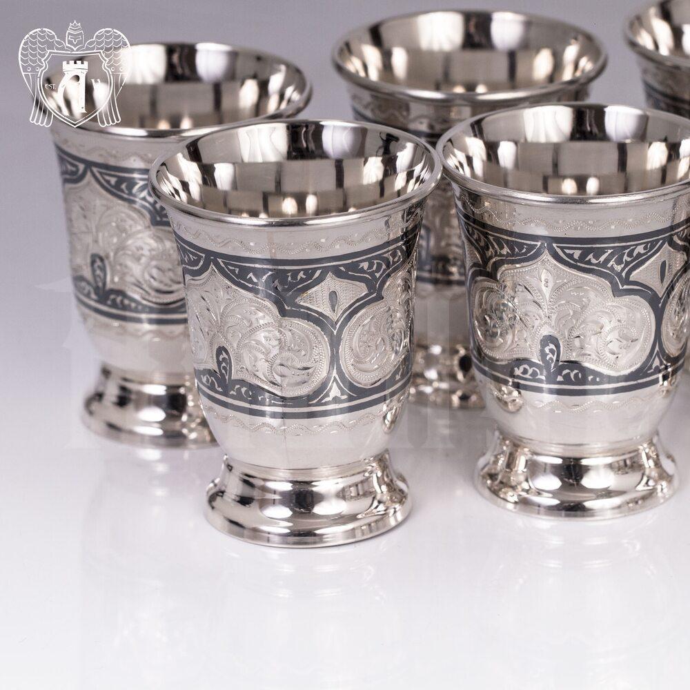 Набор серебряных стопок «Аллегро 2»  6 шт Апанде, 111003141