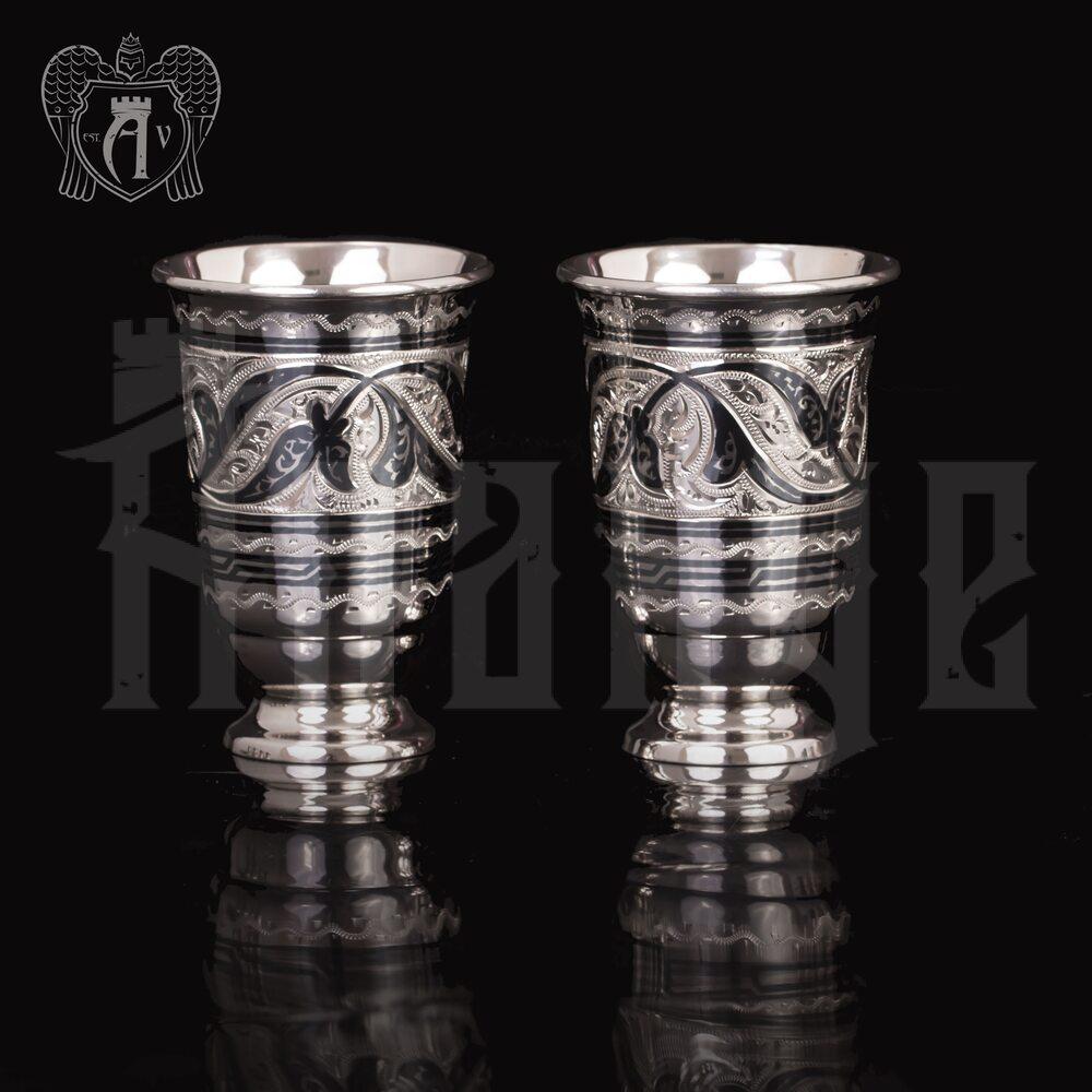 Набор серебряных стопок  «Лоза» Апанде, 8900096