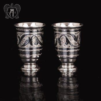 Набор серебряных стопок  «Лоза»