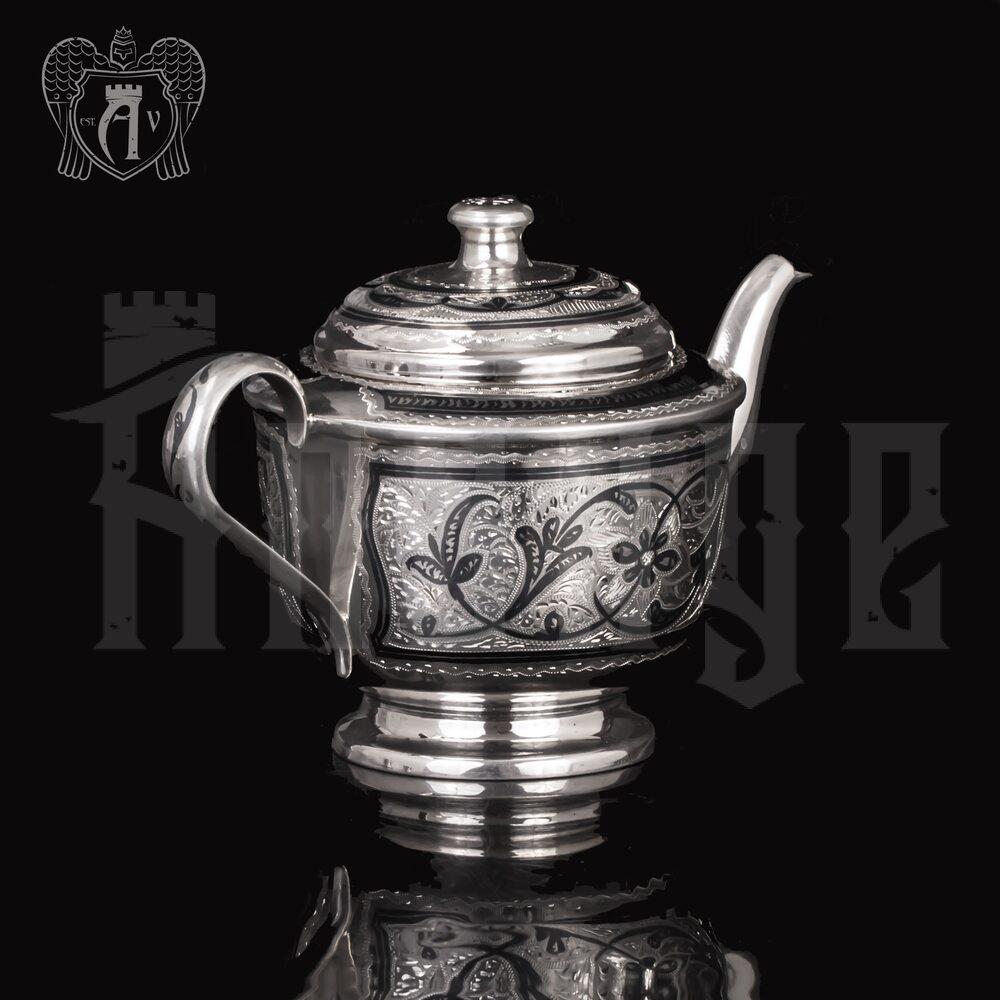 Набор чайный серебряный «Лоза» Апанде, 1110013538