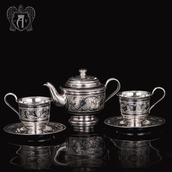 Набор чайный серебряный «Лоза»