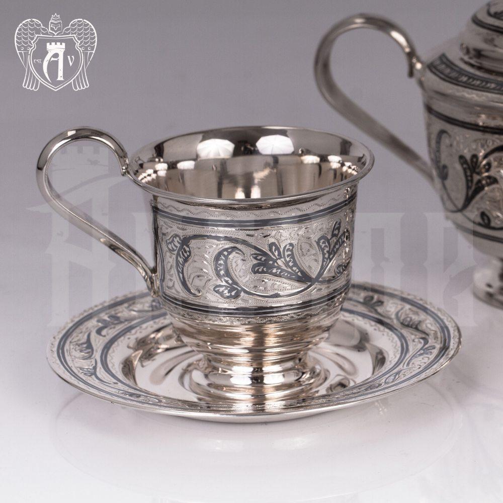 Серебряная чайная пара «Лоза» Апанде, 32009134