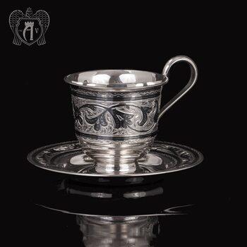 Серебряная чайная пара «Лоза»