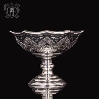 Серебряная фруктовница «Камелия»