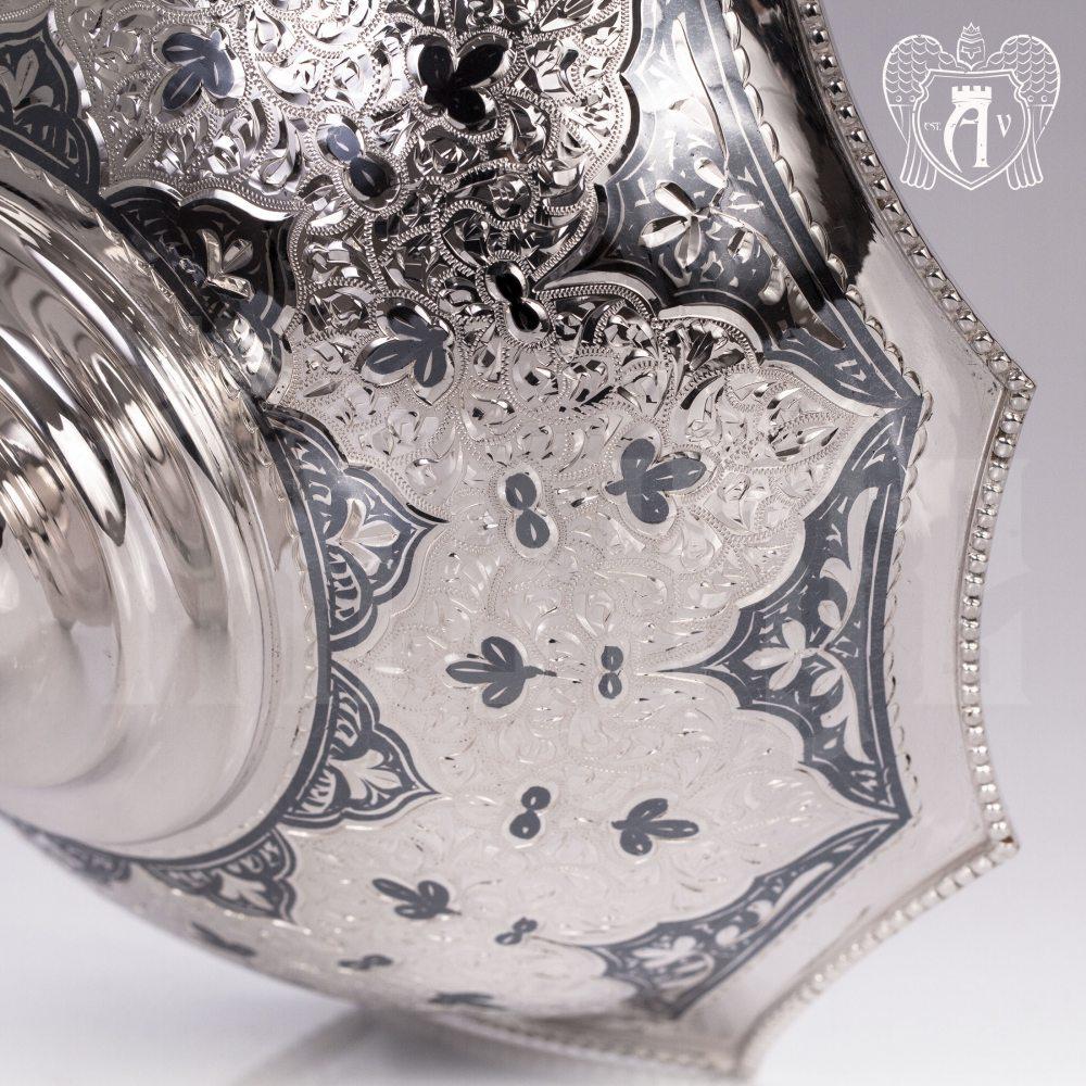 Серебряная фруктовница «Камелия»  Апанде, 520008