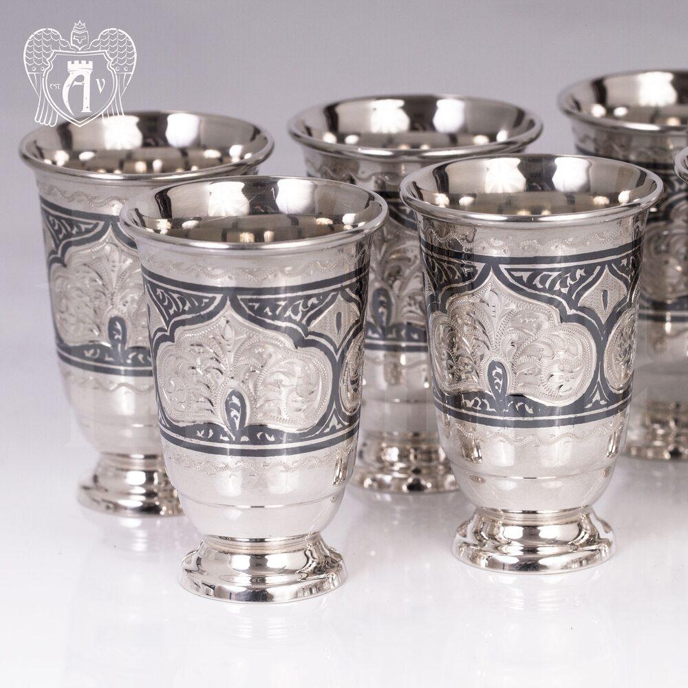 Набор серебряных стопок  «Аллегро» Апанде, 8900097