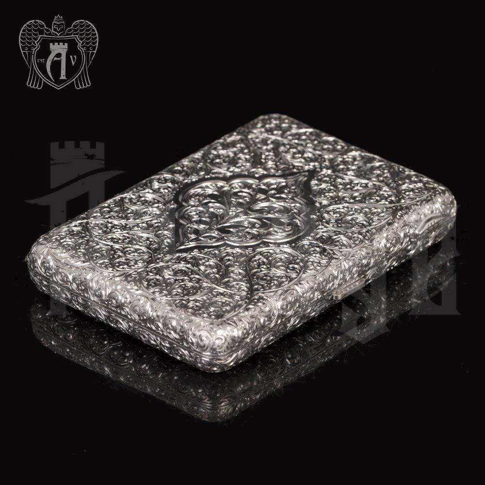 Портсигар из серебра «Вязь» Апанде, 53000570