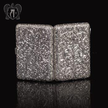 Портсигар из серебра «Вязь»