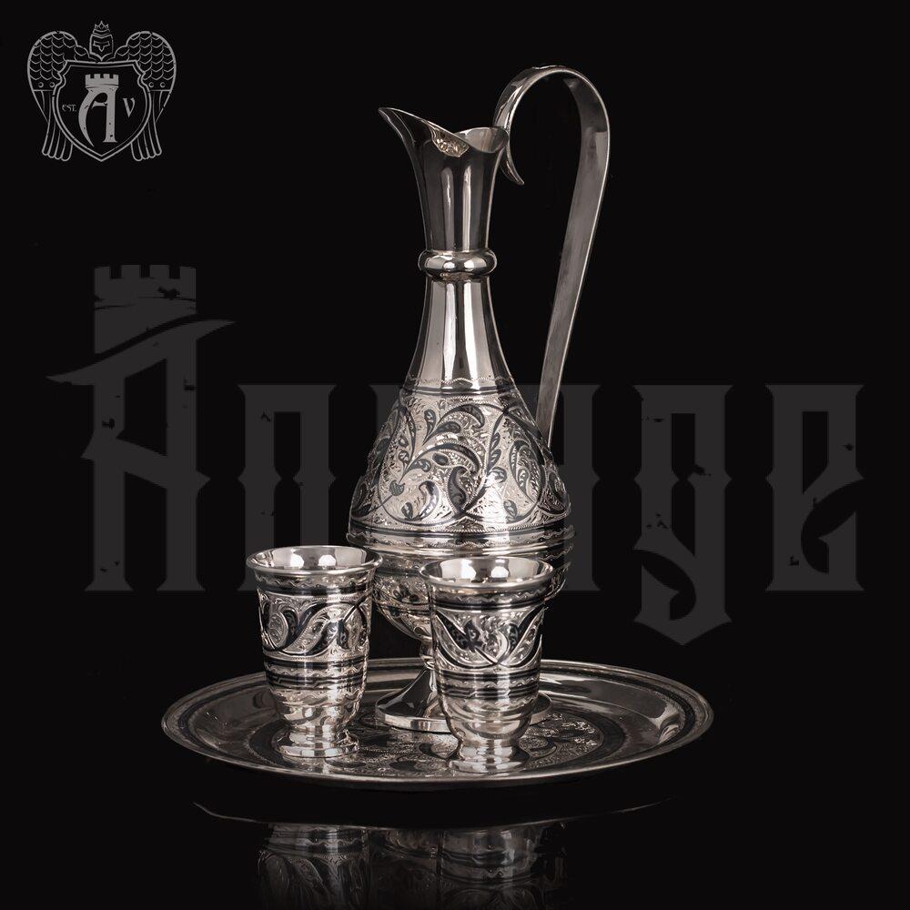 Водочный сервиз серебряный «Галант» Апанде, 11100547