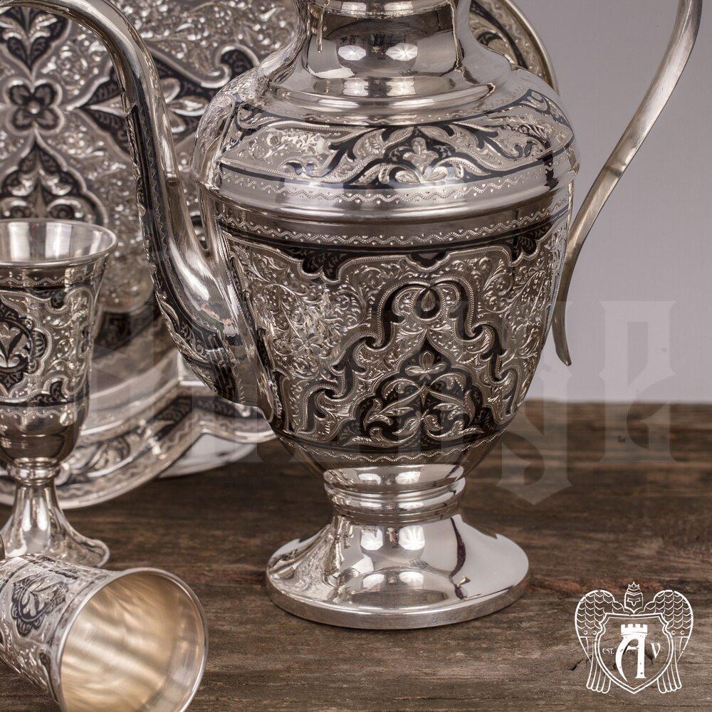 "Кувшин для коньяка из серебра ""Зевс"" Апанде, 54000131"