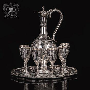 Винный сервиз из серебра  «Александрия»