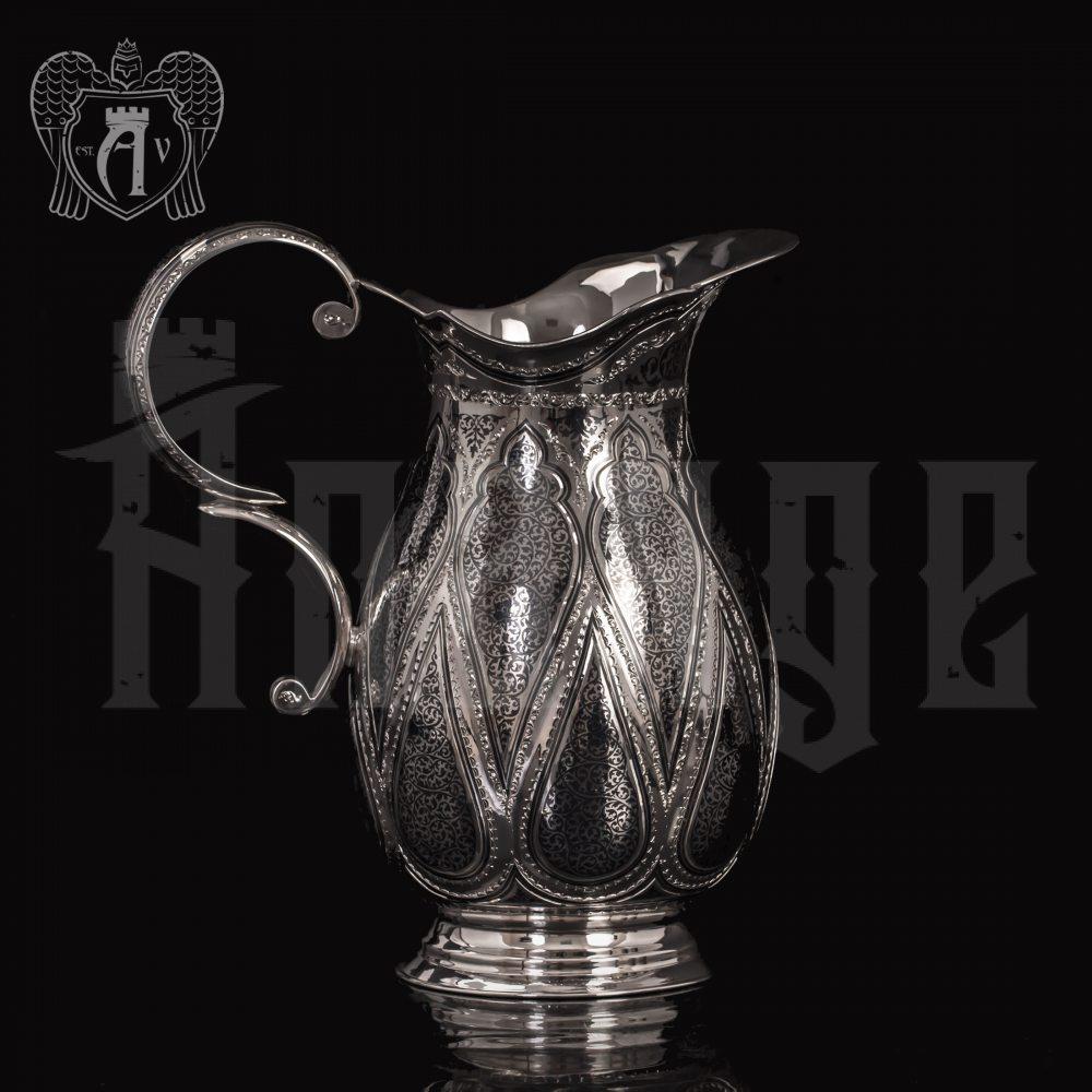 """Кувшин и два стакана из серебра """"Кристалл"""" Апанде, 111003172"""