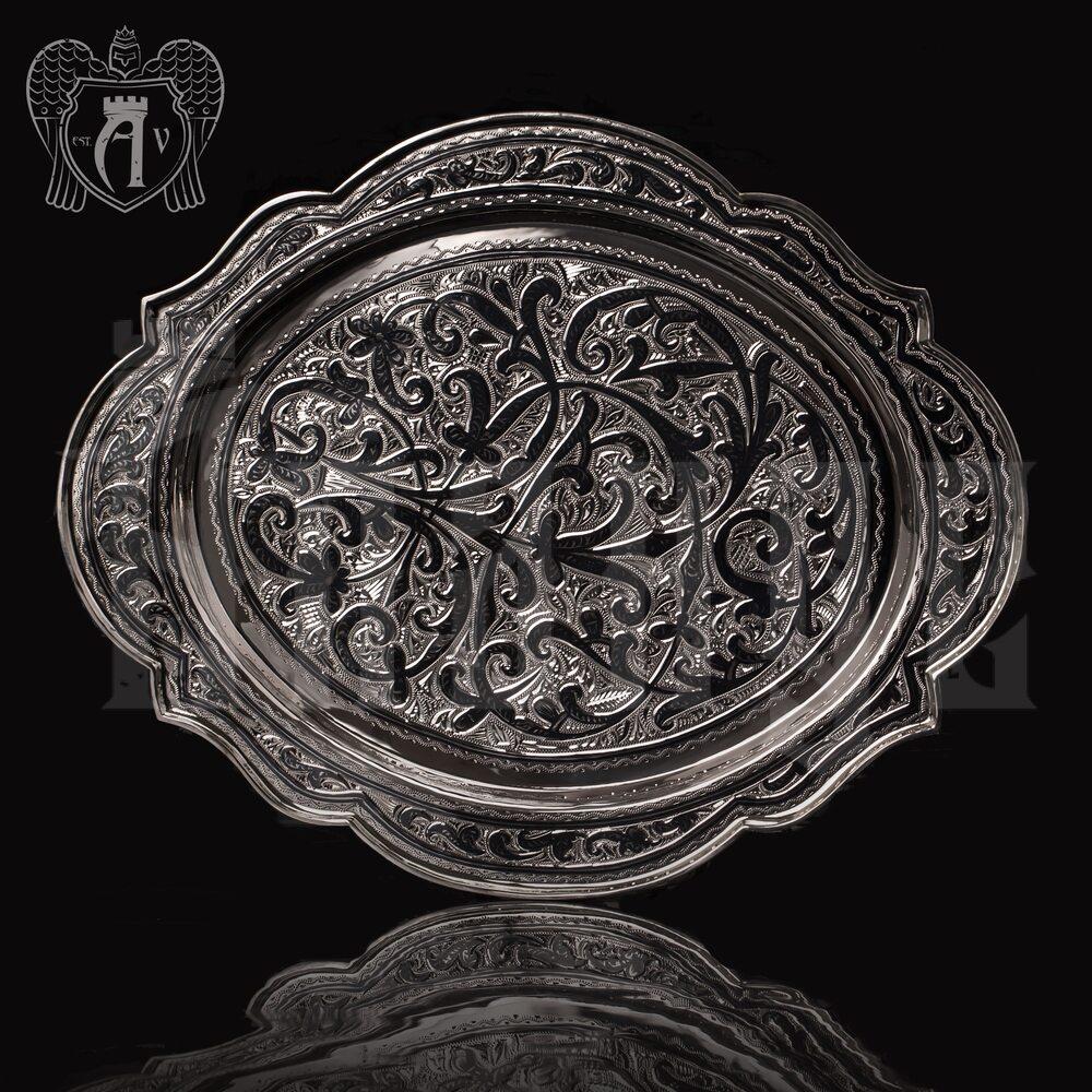 """Кувшин и два стакана на подносе из серебра  925 пробы """"Хрустальный ручей"""" Апанде, 111003173"""
