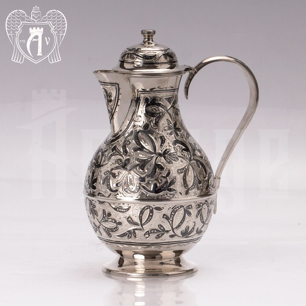 """Кувшин и два стакана на подносе из серебра  """"Хрустальный ручей"""" Апанде, 111003174"""