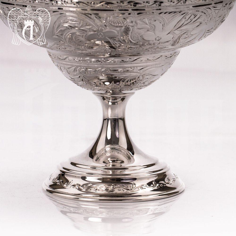 Конфетница из чистого серебра 999 пробы для фруктов и сладостей «Мелани 2» Апанде, 520008