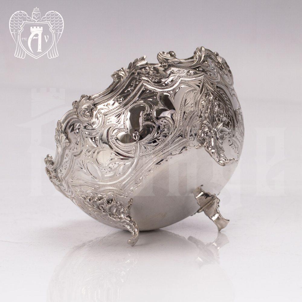 Сахарница \ вареньица из чистого серебра 999 пробы «Вероника» Апанде, 350003140