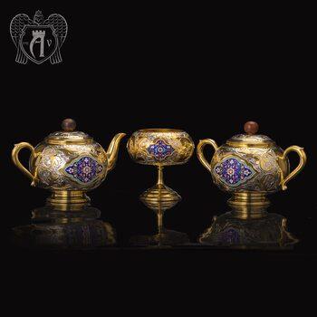 Набор чайный серебряный «Люкс»