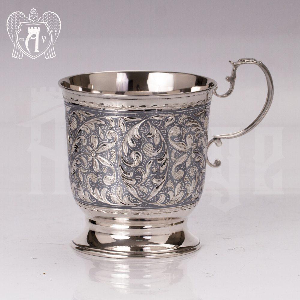 Большая кружка из серебра для напитков  «Клио» Апанде, 32009139