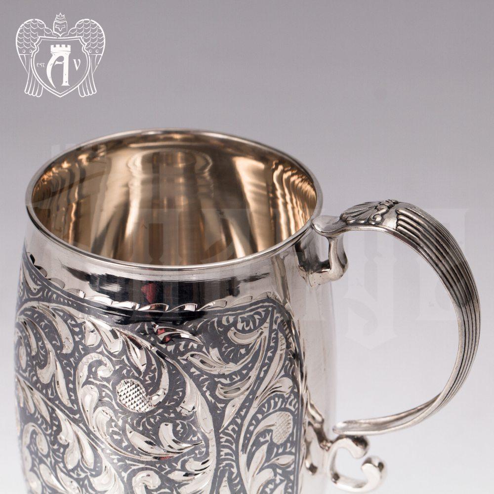 Кружка из серебра для напитков  «Розалия» Апанде, 32009140