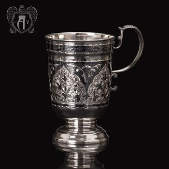Кружка из серебра для напитков  «Торино»