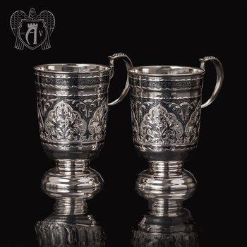 Набор кружек  из серебра для напитков  «Торино»