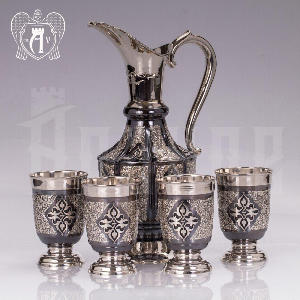 """Сервиз для воды и сока из серебра """"Далила"""" Апанде, 11180051"""