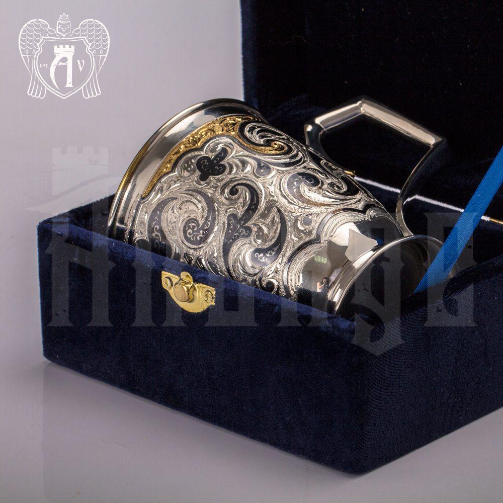 """Кружка из серебра """"Феникс"""" с золочением Апанде, 32009139"""