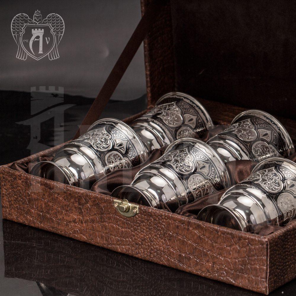 Набор серебряных стаканов «Соломон» Апанде, 71000445