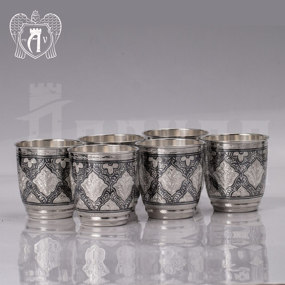 Набор серебряных стаканов «Люксор» 925 пробы Апанде, 71000446