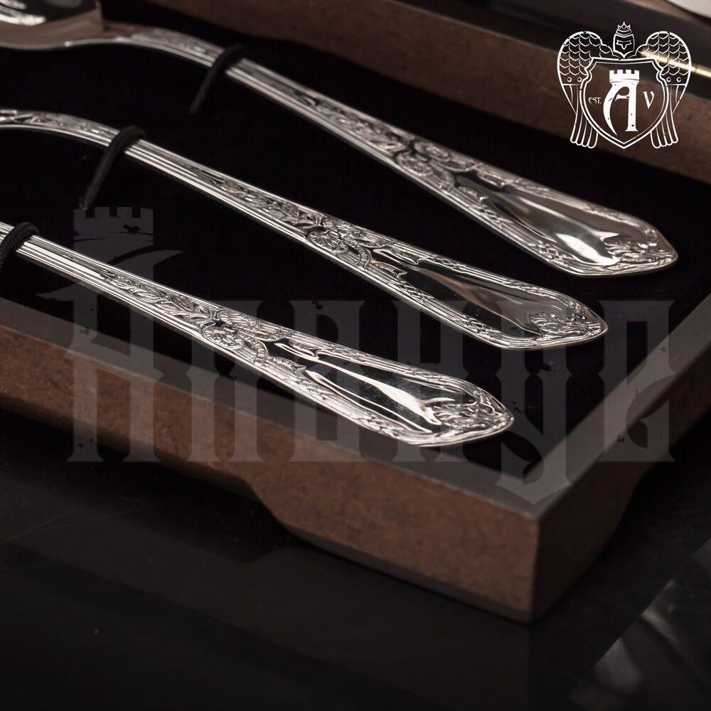 Столовые ложки из серебра 925 пробы «Герцогиня» 6 шт Апанде, 290002195