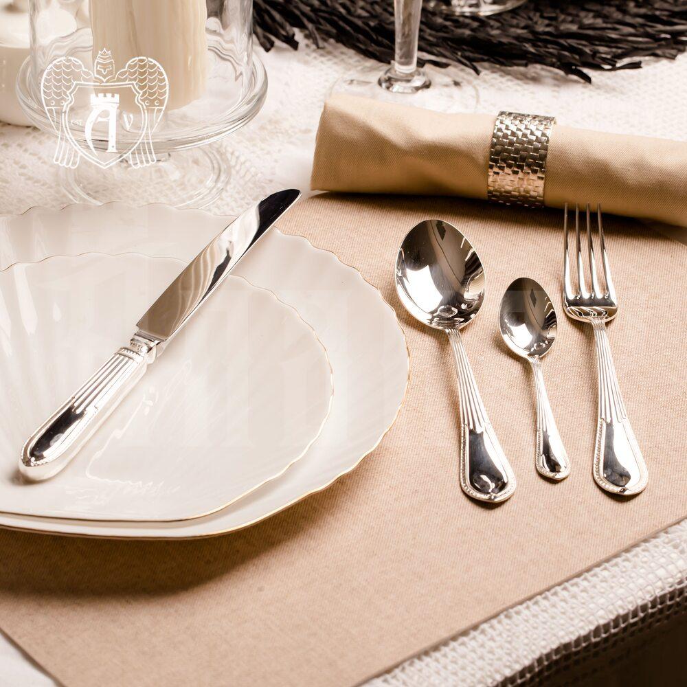 Столовый набор из серебра на 6 персон «Элегант» 24 предмета Апанде, 22000212-50