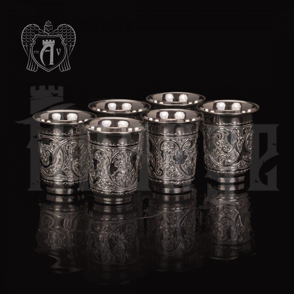 "Большие стопки из серебра ""Гранд"" набор 6 шт Апанде, 111003145"