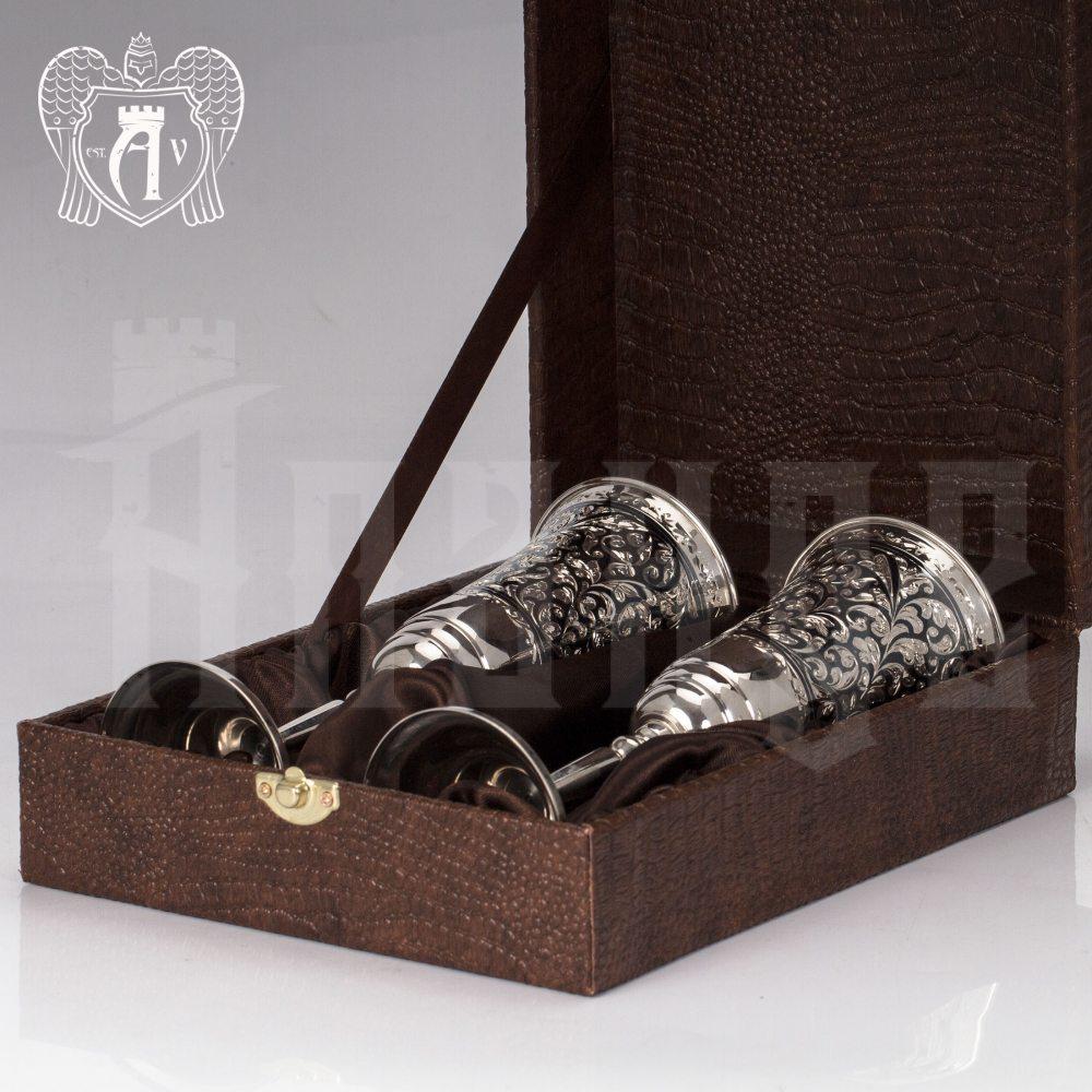 Бокалы из серебра «Тиффани» 2 шт Апанде, 3800403-25