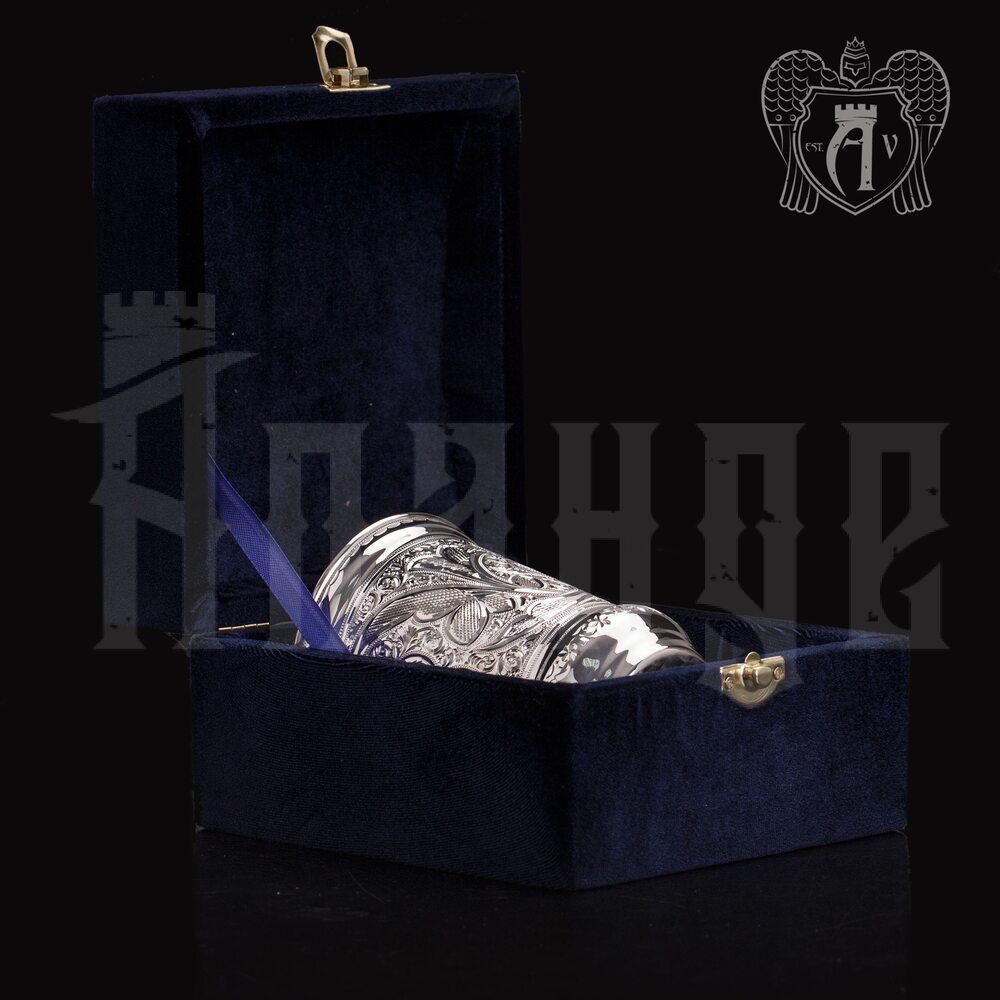 Серебряный стакан «Хрустальный звон» из чистого серебра 999 пробы без крышки Апанде, 71000510