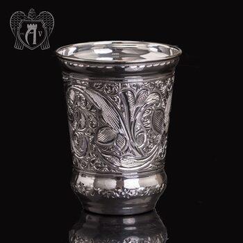 Серебряный стакан «Хрустальный звон» из чистого серебра 999 пробы без крышки