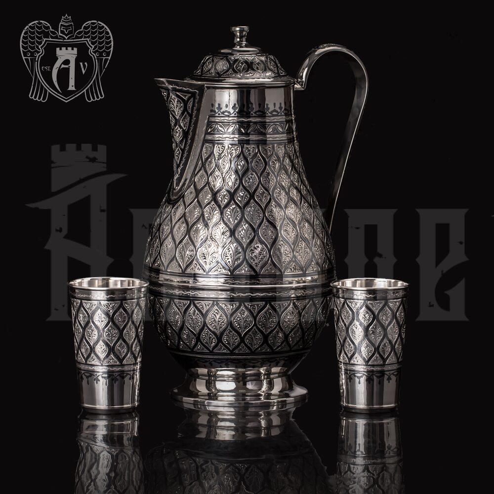 """Большой кувшин и два стакана из серебра 925 пробы""""Неаполь"""" Апанде, 111003172"""