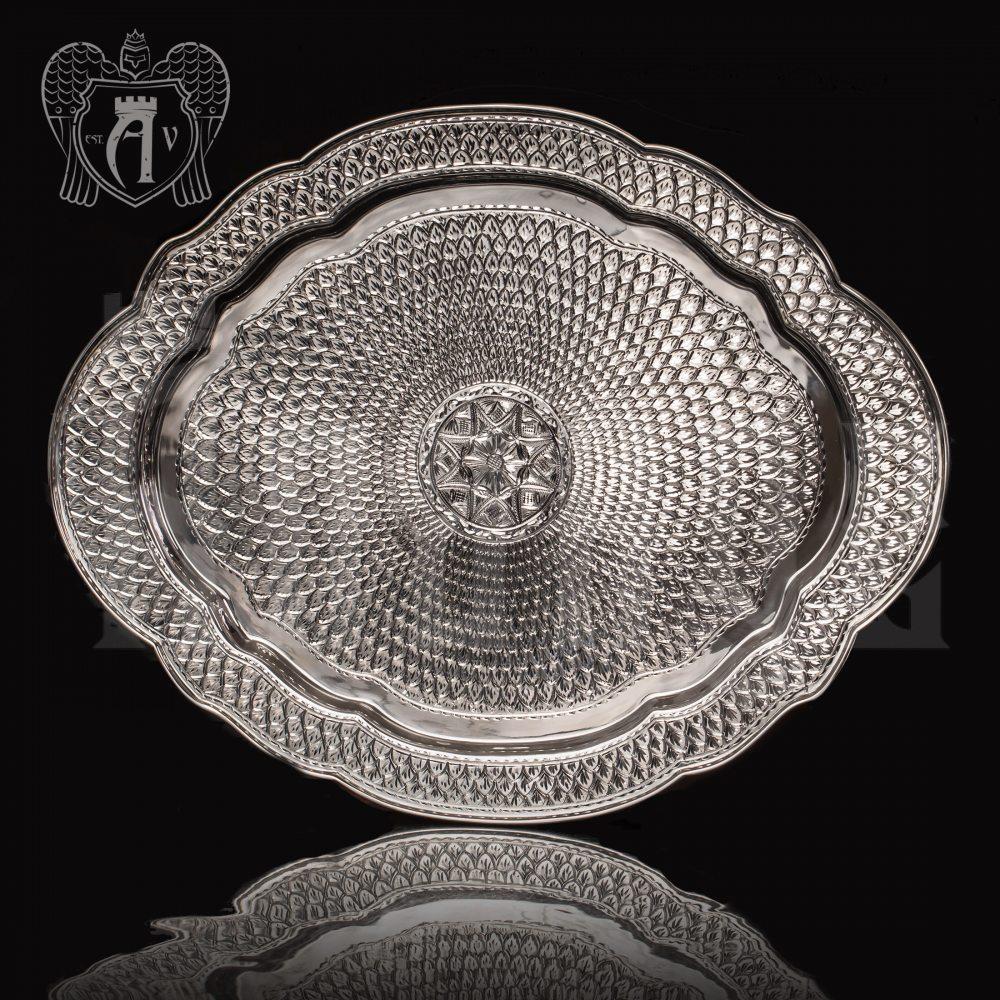 Сервиз из серебра 925 пробы «Графский» без черни Апанде,  11100030